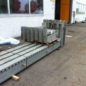 Cantilever scaffale grigio a 19 braccia usato - SGA Srl Shopmetalshelves