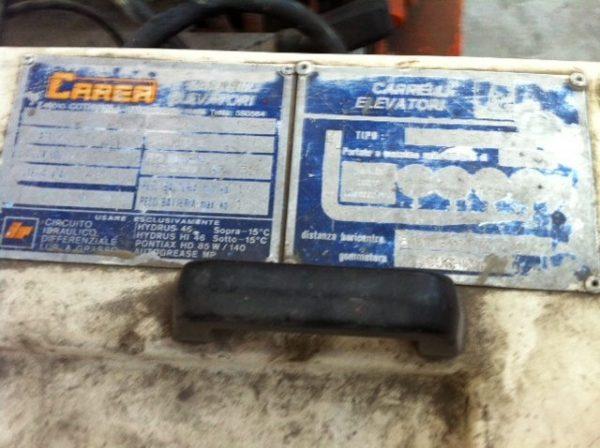 Dettaglio carrello elevatore Carer usato - SGA Shopmetalshelves
