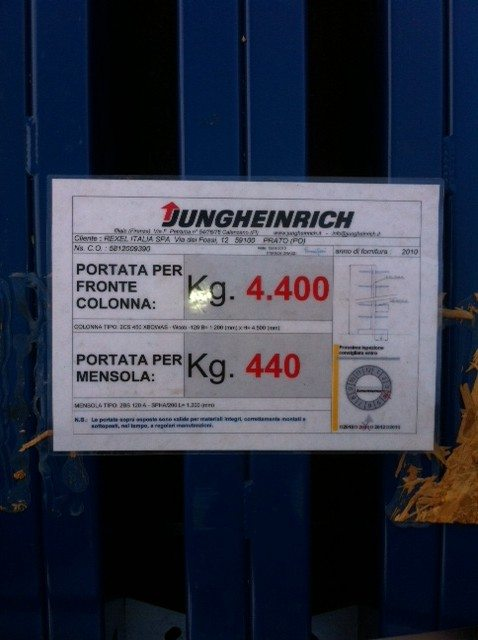 Cantilever Jungheinrich - SGA Shopmetalshelves