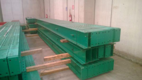 Scaffalatura cantilever verde bifronte - SGA Srl shopmetalshelves