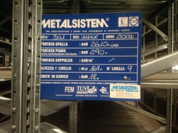 Scaffalatura Metalsistem leggera - SGA Shopmetalshelves