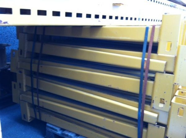Braccia scaffale cantilever giallo bifronte usato - S.G.A. Shop Metal Shelves